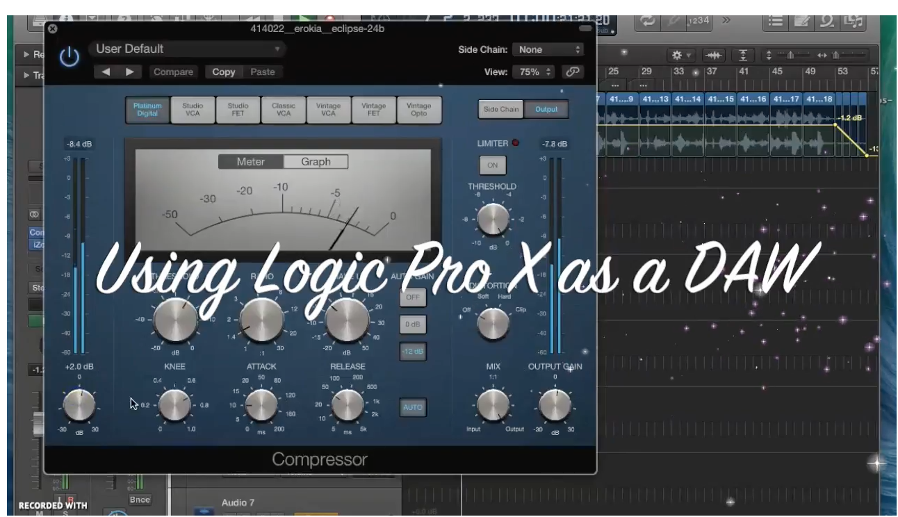 Making a chilled hip hop beat using Logic Pro X as a DAW and Maschine as a VST plugin