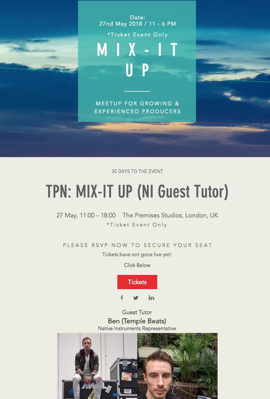 Guest Tutor at The Producer Network – Mix It Up