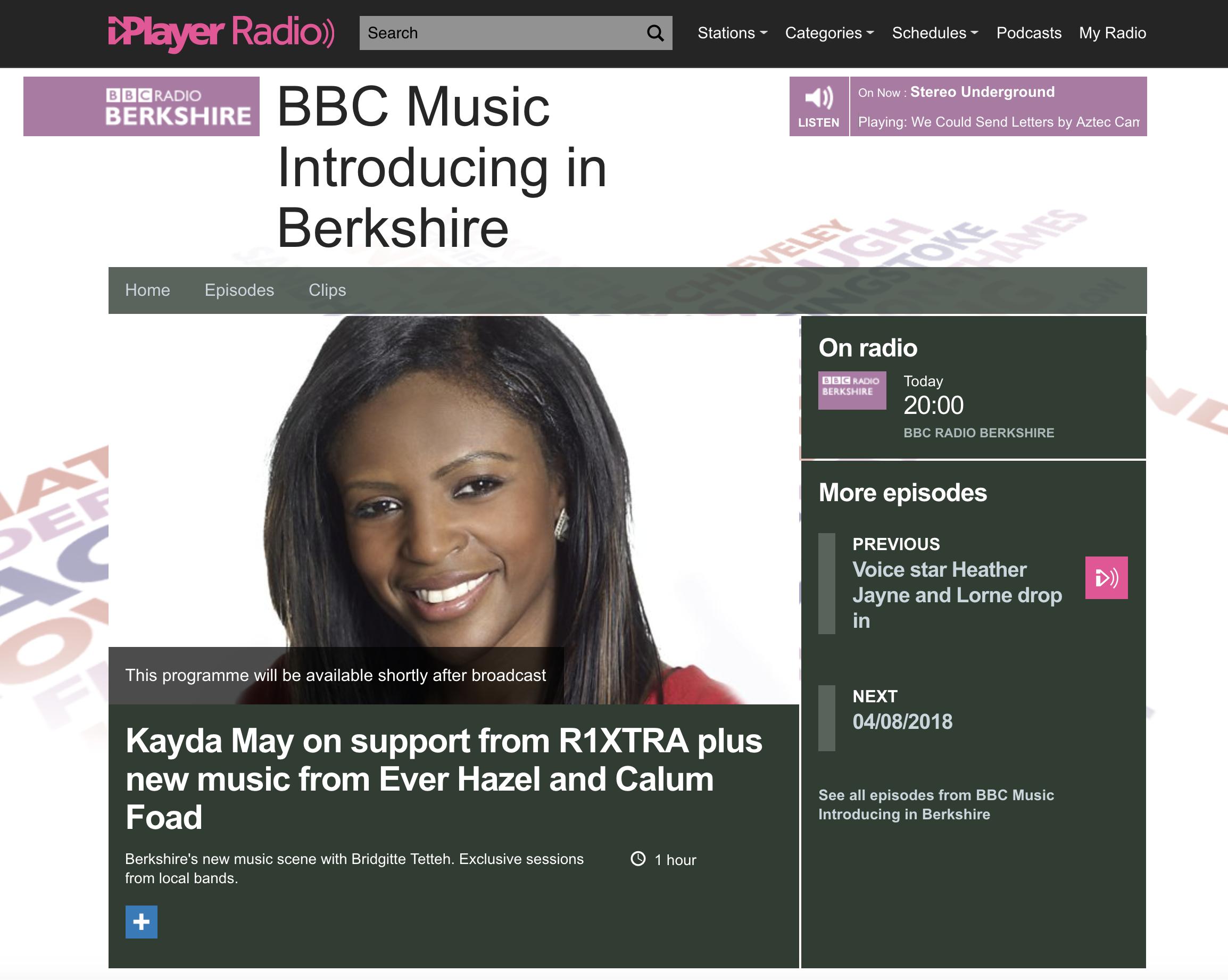 BBC Radio Berkshire (introducing) plays Third Phase