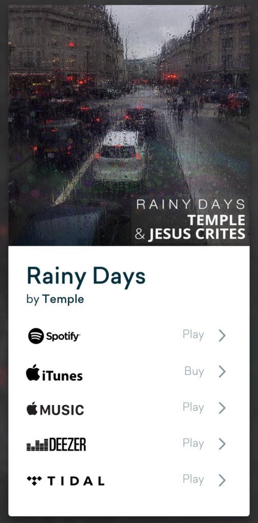 Rainy Days - Temple X Jesus Crites